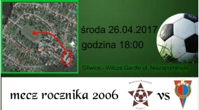 Wyjazdowy mecz rocznika 2006 z AP Gliwice