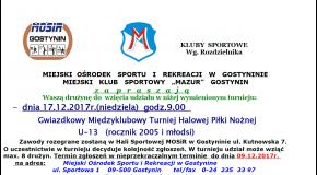 Turniej Młodzików U-13 w hali MOSiR Gostynin