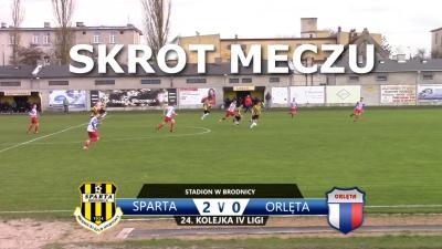 VIDEO: Skrót meczu Sparta 2:0 Orlęta