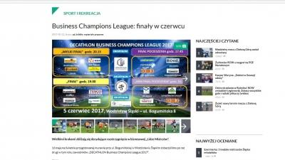 Rybnik.com.pl o rozgrywkach DECATHLON Business Champions League