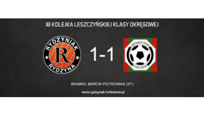 Pierwszy remis w sezonie. 4P4S Rydzyniak 1-1 Zjednoczeni Pudliszki.