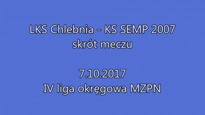 Skrót meczu LKS Chlebnia vs SEMP II Ursynów 6:8