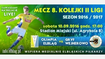 OLIMPIA ELBLĄG - GRYF WEJHEROWO