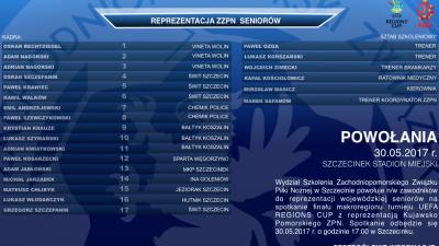Paweł Kosarzecki powołany do kadry na turniej  UEFA REGIONS CUP 2017
