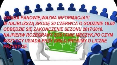 Zakończenie sezonu 2017/2018