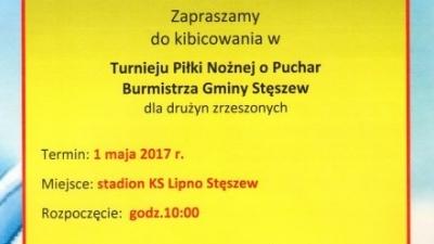 Turniej o Puchar Burmistrza - 1 maja - PROGRAM