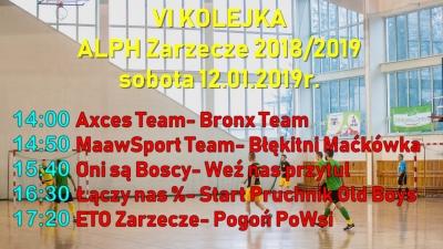 VI Kolejka ALPH Zarzecze- sobota 12.01.2019