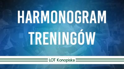 Harmonogram treningów na listopad-marzec 2019/2020