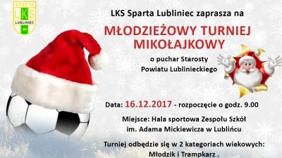 Kolejny mikołajkowy turniej piłkarski w Lublińcu!
