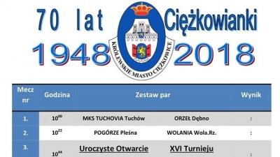 XVI Halowy Turniej Piłki Nożnej - Ciężkowice 2019 - TERMINARZ