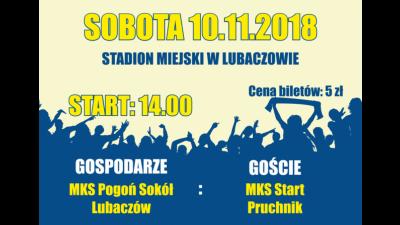 XIV kolejka: MKS Pogoń Sokół Lubaczów - MKS Start Pruchnik