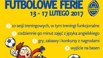 Harmonogram Futbolowych Ferii z Klubem Sportowym Konstancin!