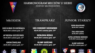 Harmonogram meczów grup młodzieżowych