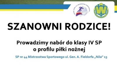 Nabory do klas sportowych w Szkole Mistrzostwa Sportowego!