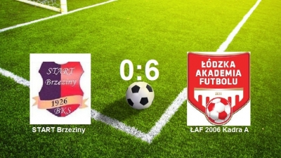 START Brzeziny vs ŁAF Kadra A 0:6