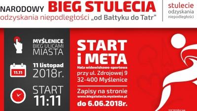 Narodowy Bieg Stulecia w Myślenicach - zapraszamy do zapisów!