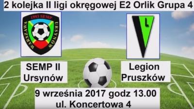 Wideorelacja z II kolejki II ligi okręgowej MZPN KS Semp -Legion Pruszków