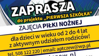 Od 19.09.2017 zajęcia Pierwszej Szkółki!