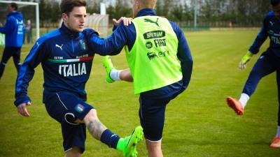 Reprezentacja Włoch U-20 już po treningu
