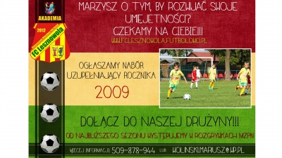 Nabór rocznika 2009!!!