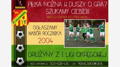 Nabór rocznika 2004!!!