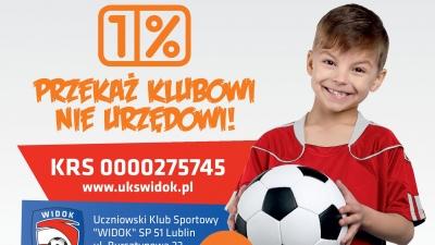 Przekaż 1 % podatku na rzecz Widok Lublin