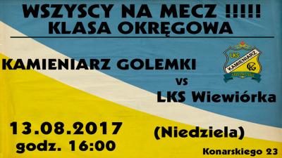 Kamieniarz Golemki vs LKS Wiewiórka 1 Kolejka Klasa Okręgowa