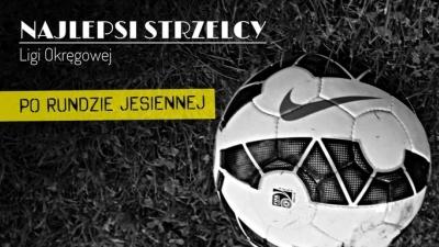 Klasyfikacja strzelców Ligi Okręgowej gr.2 Tarnów po rundzie jesiennej.