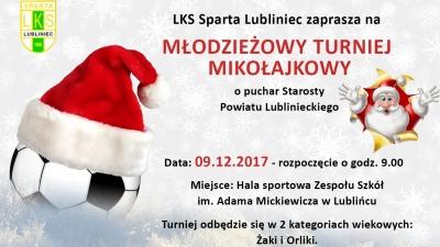 Mikołajkowy turniej piłkarski w Lublińcu!