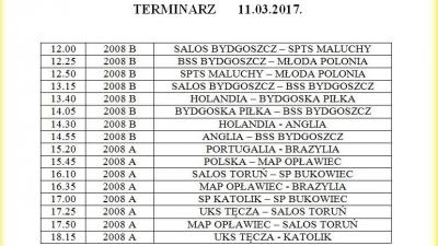 11.03.2017 kolejna runda Salezjańskiej Ligi Bydgoszczy.