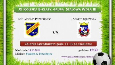 """""""Jodła"""" Przychojec vs. """"Advit"""" Łętownia"""