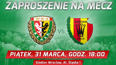 Damowe wejściówki na mecz Śląsk Wrocław -Korona Kielce