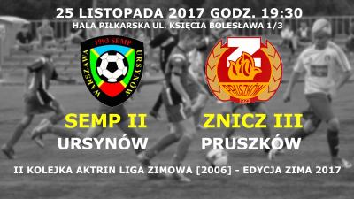 Powołania na 2 kolejkę ligi zimowej  (jesień 2017)