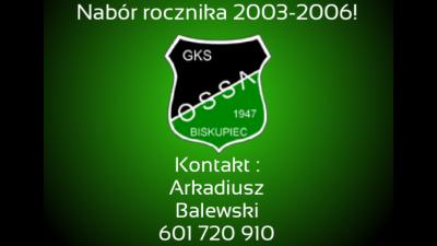 Nabór do drużyny Juniorów Młodszych (2003-2006)