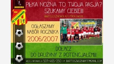 Nabór rocznika 2006/2007!!!