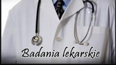 BADANIA LEKARSKIE - czerwiec 2017