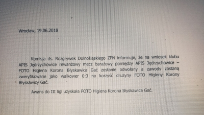Foto-Higiena w III lidze!