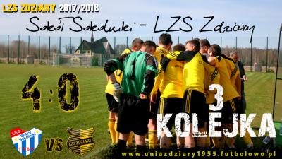3 Kolejka: Sokół Sokolniki - LZS Zdziary 4:0.