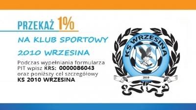 1 % podatku na rzecz KS 2010 Wrzesina