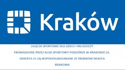 Zajęcia dla dzieci i młodzieży współfinansowane ze środków Miasta Krakowa