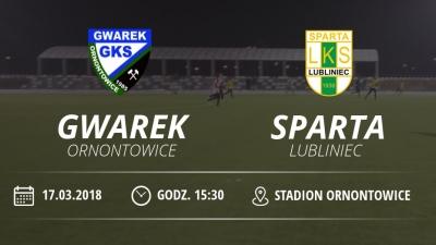 "Gwarek Ornontowice - LKS ""SPARTA""Lubliniec"
