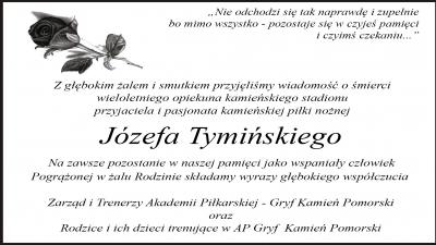 Kondolencje dla rodziny Pana Józefa Tymińskiego