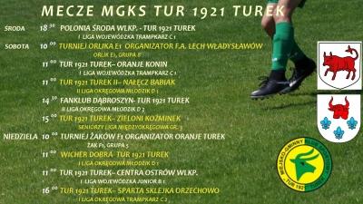 Zaproszenie na mecze MGKS Tur 1921 Turek.