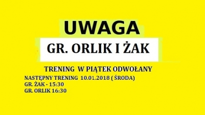 UWAGA GR. ŻAK  I ORLIK