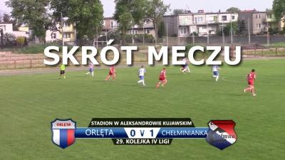 VIDEO: Skrót meczu Orlęta 0:1 Chełminianka Chełmno
