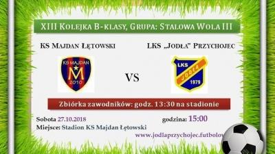"""KS Majdan Łętowski vs. LKS """"Jodła"""" Przychojec"""