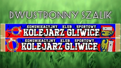 Dwustronny szalik KKS Kolejarz Gliwice