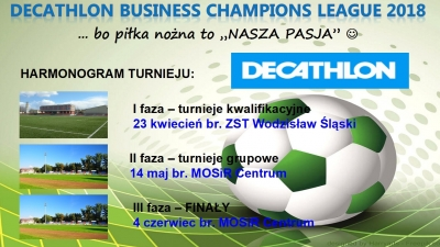 "Harmonogram turnieju ""DECATHLON Business Champions League 2018"""