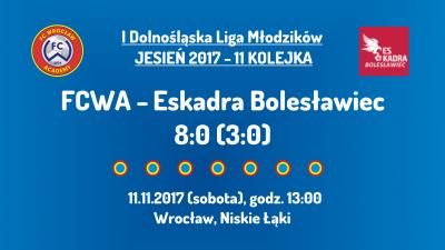 I DLM 11 kolejka: FCWA - Eskadra Bolesławiec (11.11.2017)