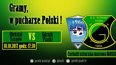 Puchar Polski: Błękitni Sarnów - Górnik Piaski Delta & Global